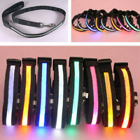 Ee _ LED Brillante Luminoso Parpadeante Cachorro Perro Gato Mascota Collar Full