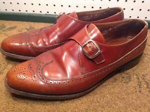 ALLEN EDMONDS Warwick Burgundy Leather Moccasin Loafer Dress Shoes Men US 11.5 D