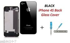 BRAND New Back Battery Housing Cover Glass Replacement for iPhone 4GS 4S - BLACK