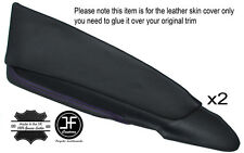 PURPLE STICH 2X FRONT DOOR CARD TRIM LEATHER COVERS FOR HOLDEN CREWMAN VY VZ UTE