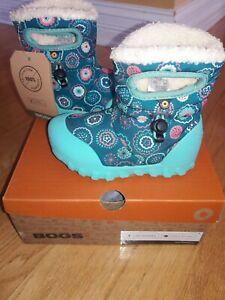 Bogs I Bmoc Bullseye  Little Kid Snow Boots, Turq Multi, Size 8