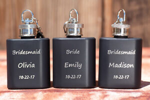 Personalized Party Favors, Key-Chain Flask, engraved Gift Birthday, Prom, BFF