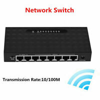 5/8/16 Ports Network Switch 10/100Mbps Gigabit LAN POE Ethernet Hub PC Adapter