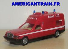 Mercedes-Benz ambulance Pompier / Feuerwehr RTW HO 1/87 Wiking