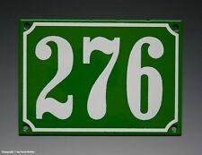Emaux, E-Mail-numéro de maison 276 In Vert/Blanc Pour 1965