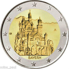 Germany 2 Euro, 2012 BAYERN , Castle Neuschwanstein Commemorate A D F G J UNC