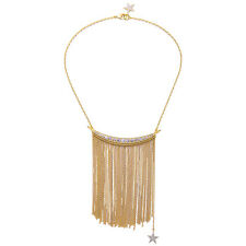 Exquiste Anthropologie Esila Shimmer Star Rhinestone Gold Chain Necklace