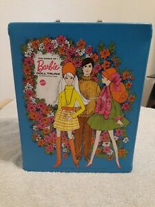 Vintage Barbie -The World of Barbie Double Side Doll Blue Case