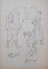 Lithography original - George Grosz - Ecce Homo - Gruss aus Sachsen - 1923