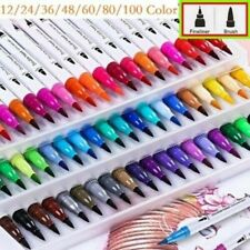 More details for 24-100 colours watercolour brush pens drawing painting art oil sketch manga sets