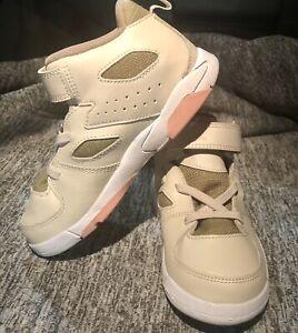 Nike Air Jordan Toddler Size 10C Flight Club 91 White Pink Green Shoe AO2672-101