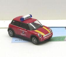 "Herpa 045889: mini Cooper ""bmw obra bomberos lluvia castillo"""