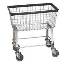 Economy Laundry Cart -2 1/2 Bushel on wheels w/ Basket MODEL: R&B WIRE 96B
