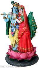 RADHA KRISHNA India Hindu STATUE God Goddess Murti H820