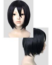 Attack on Titan Shingeki no Kyojin Mikasa Ackerman Cosplay Perücke wig black