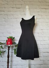 Forever 21 women size small sleeveless black stretch flare pullover dress