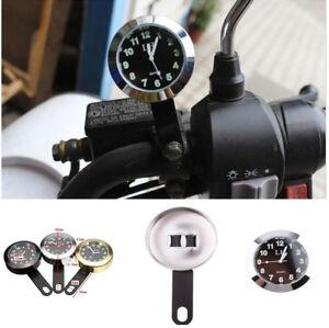 1x Waterproof Alloy Motorcycle Motorbike Handlebar Mount Clock Watch Shockproof
