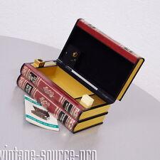 itt Corona Zigarettenspender mit Spieluhr und Feuerzeug in Buchform 60er Jahre