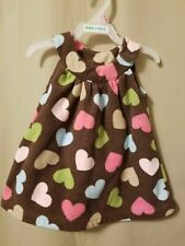Carter's -Soft Brown Fleece Jumper With Multi-color Hearts Size 3M Ir5