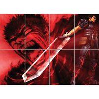 Berserk Guts - Manga Giant Wall Mural Art Poster Picture Print 47x33 Inches
