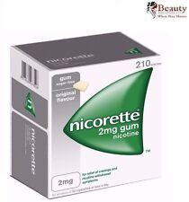 Nicorette Gum 2mg Nicotine Original Flavor (210 Pieces, 1 Box) NEW