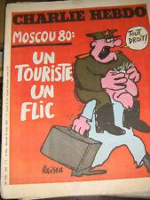 Charlie Hebdo N°506 30/7/1980 Caricature Cavanna Wolinski Cabu Charb Moscou 80