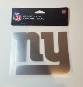 "New York Giants Perfect Cut 6"" x 6"" Shiny Chrome Decal"