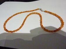COLLIER CORNALINE perles 3 et 5 mm 46 cm