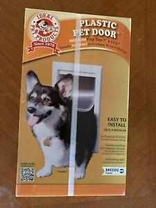"Ideal Pet Products Medium Doggy Cat Door 7x11.25"" Flap Easy Install NEW"