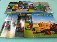 """Antique Power"" set of 11 Magazines Sep/Oct 2018, Jan. 2019-Aug. 2019"
