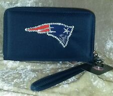 New England Patriots Cell Phone Wallet Rhinestone Bling NFL Licensed!