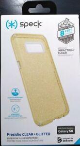 Speck Presidio Clear + Glitter Slim Case for Samsung Galaxy S8 Glitter/Clear PS