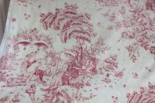 Antique French Toile de Angers valance  Le Joueur de Cornemuse 1785 fabric 18th
