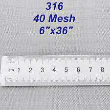 35x6'' 40 Mesh 316 Stainless Steel Filtration Woven Wire Cloth Screen Sheet