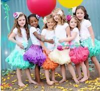 Baby Kids Girl Dancewear Tutu Skirt Cute Chiffon Full Pettiskirt Princess Skirt