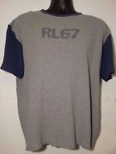 Vintage Polo Ralph Lauren RL67 Men's Short Sleeve Shirt Medium Gray