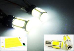2x High Power COB LED 1156 7506 P21W For Chevrolet Backup Reverse Light 18W Bulb