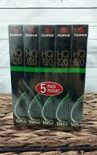 Fuji  Blank VHS Tapes   5 Pack HQ 120  -  6 Hrs each  High Quality Multipurpose