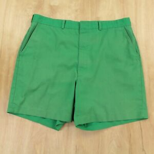 vtg cotton blend chino short shorts 36 tag faded talon zip green