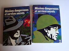 """""""MISSIONS DANGEREUSES ET SERVICES SECRETS"""" Seconde guerre mondiale - 2 TOMES"""