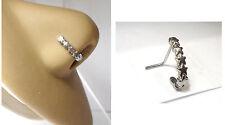 Surgical Steel Stars Bent L Shape Nose Ring Stud Hoop 20 gauge 20g