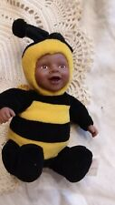 Anne Geddes Beautiful Baby Bee African American in Flower Pot