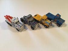 Matchbox Lot of 4 Trucks Kenworth and Peterbilt Diecast Vehicles