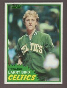 1981 Topps Basketball #4 Larry Bird Boston Celtics HOF