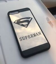 Cute Superman HD mirror case compatible with iPhone 7 / 8 - Black