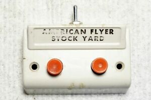 "American Flyer S-gauge button ""Stock Yard"", reconditioned & works, list #2"