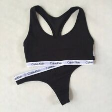 Calvin Klein Black Bralette & Thong Set CK Logo 2 Pc