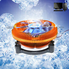 4PIN DC12V Silent CPU Cooling Cooler Fan Heatsink Support Intel/AMD CPU With LED