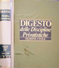 DIGESTO DELLE DISCIPLINE PRIVATISTICHE SEZIONE CIVILE VOLUME IV 4 UTET 1989