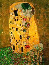 Gustav Klimt - The Kiss - Huge A0 size Abstract Canvas Art Print Poster Unframed